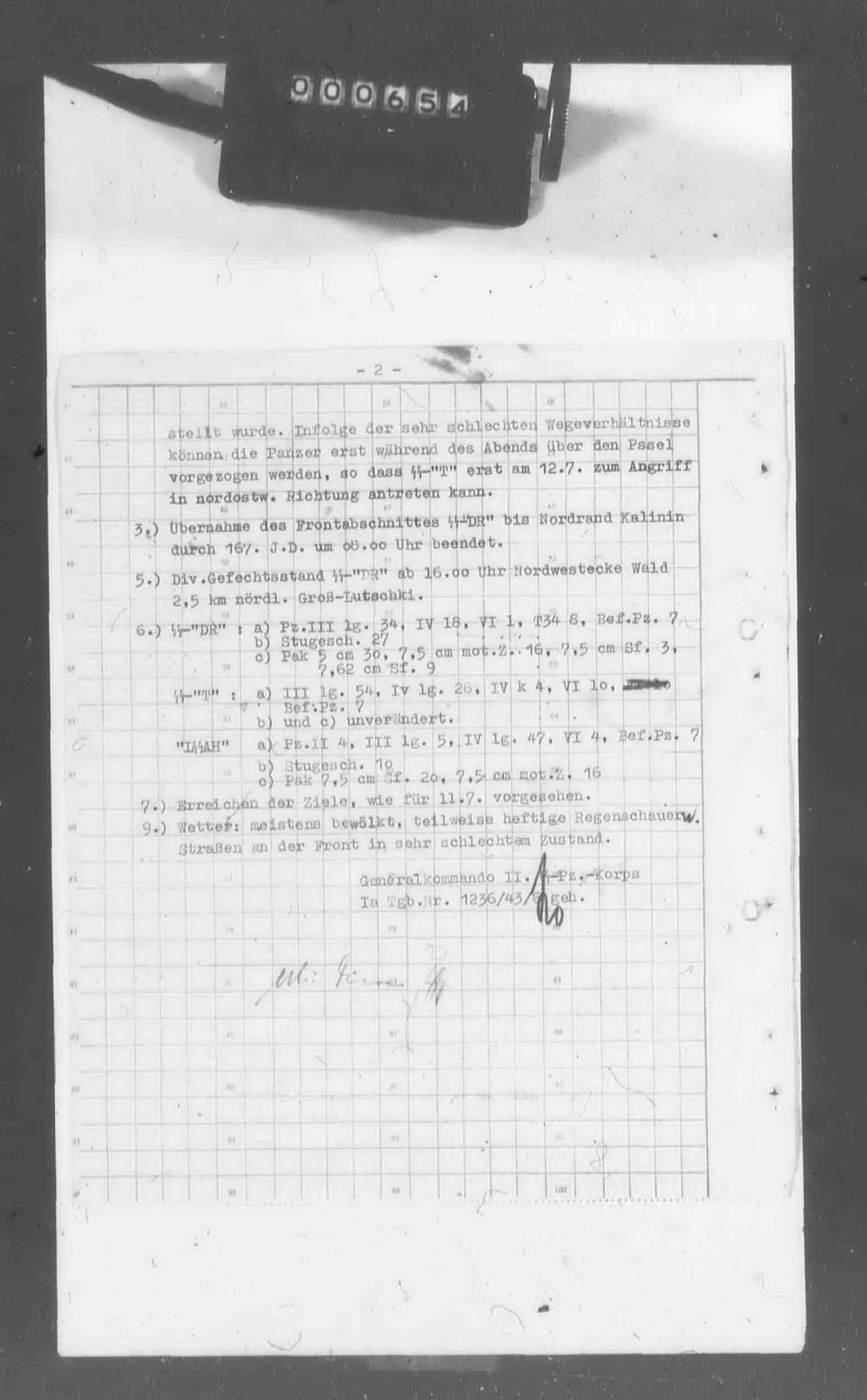 II. SS-Panzerkorps: Tagesmeldung vom 11.7.1943 - Page 2